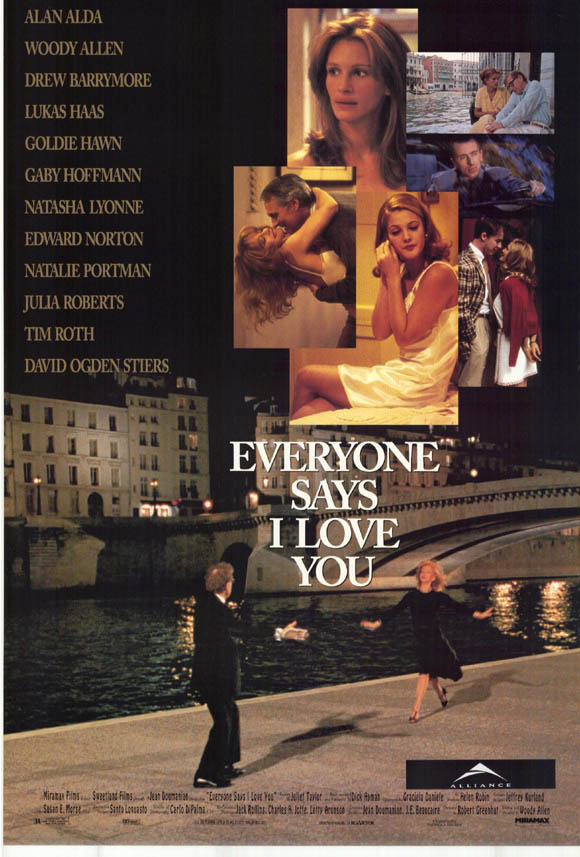 "poster for ""Everyone Says I Love You"" by Woody Allen(1996)"