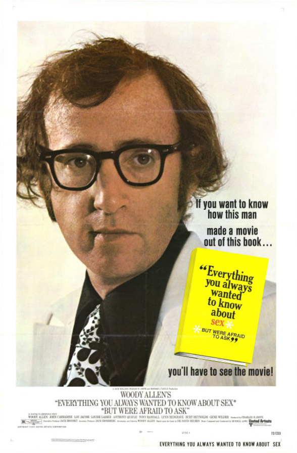 "poster for ""Everything You Always Wanted To Know About Sex"" by Woody Allen (1972)"