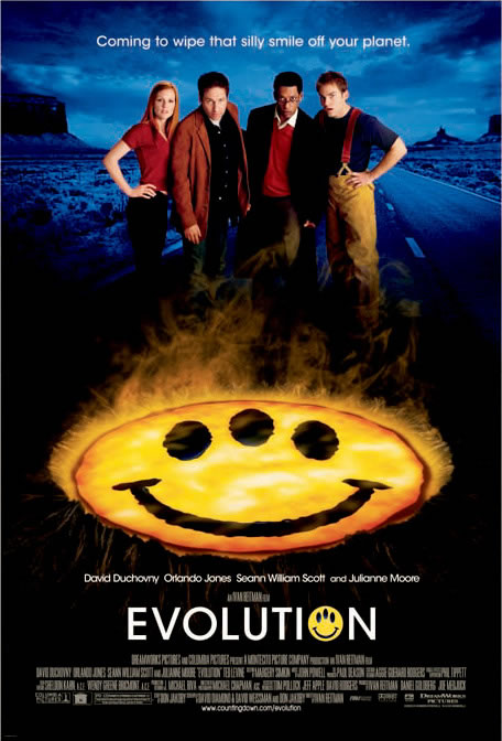 "poster for ""Evolution"" by Ivan Reitman (2001)"