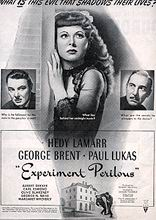 "poster for ""Experiment Perilous&quot"