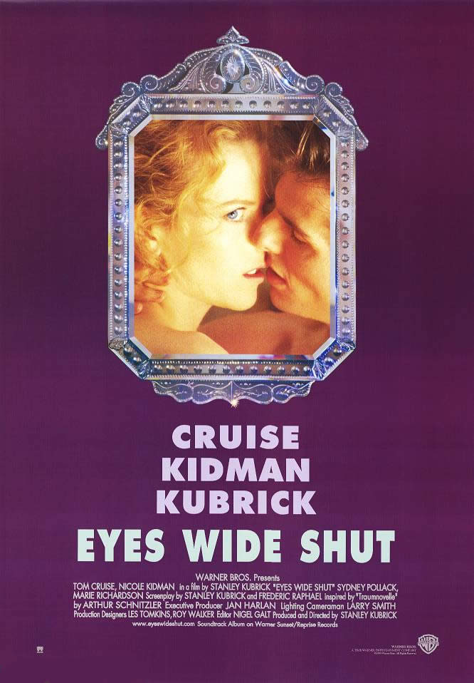 "poster for ""Eyes Wide Shut"" by Stanley Kubrick (1999)"