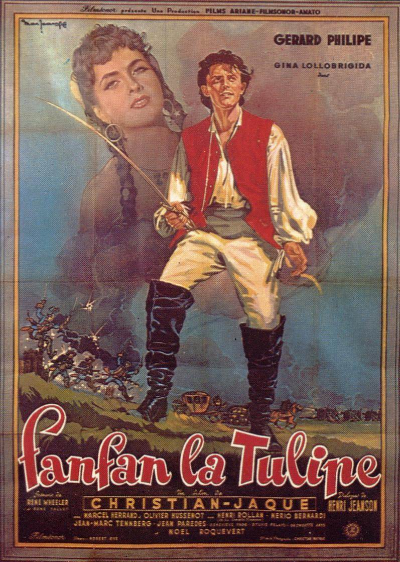 "poster for ""Fanfan la Tulipe"" by Christian-Jaque(1952)"