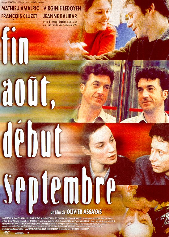 "poster for ""Fin Ao�t, D�but Septembre"" by Olivier Assayas (1998)"