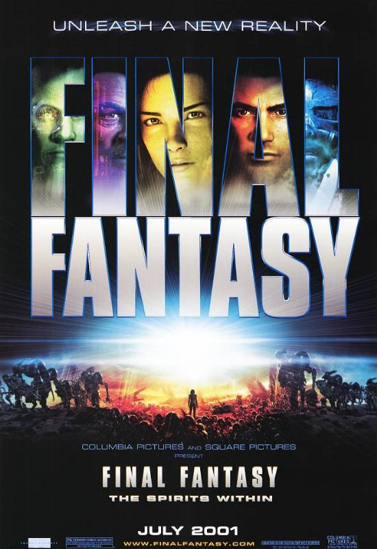 "poster for ""Final Fantasy, the Spirit Within"""