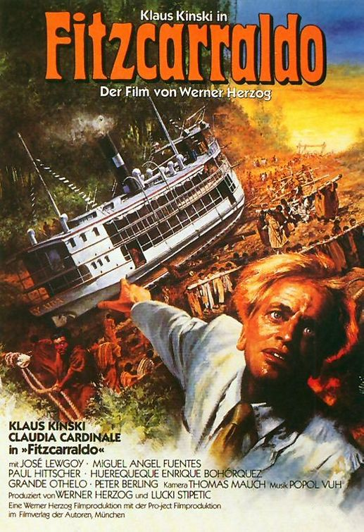"poster for ""Fitzcarraldo"" by Werner Herzog (1982)"