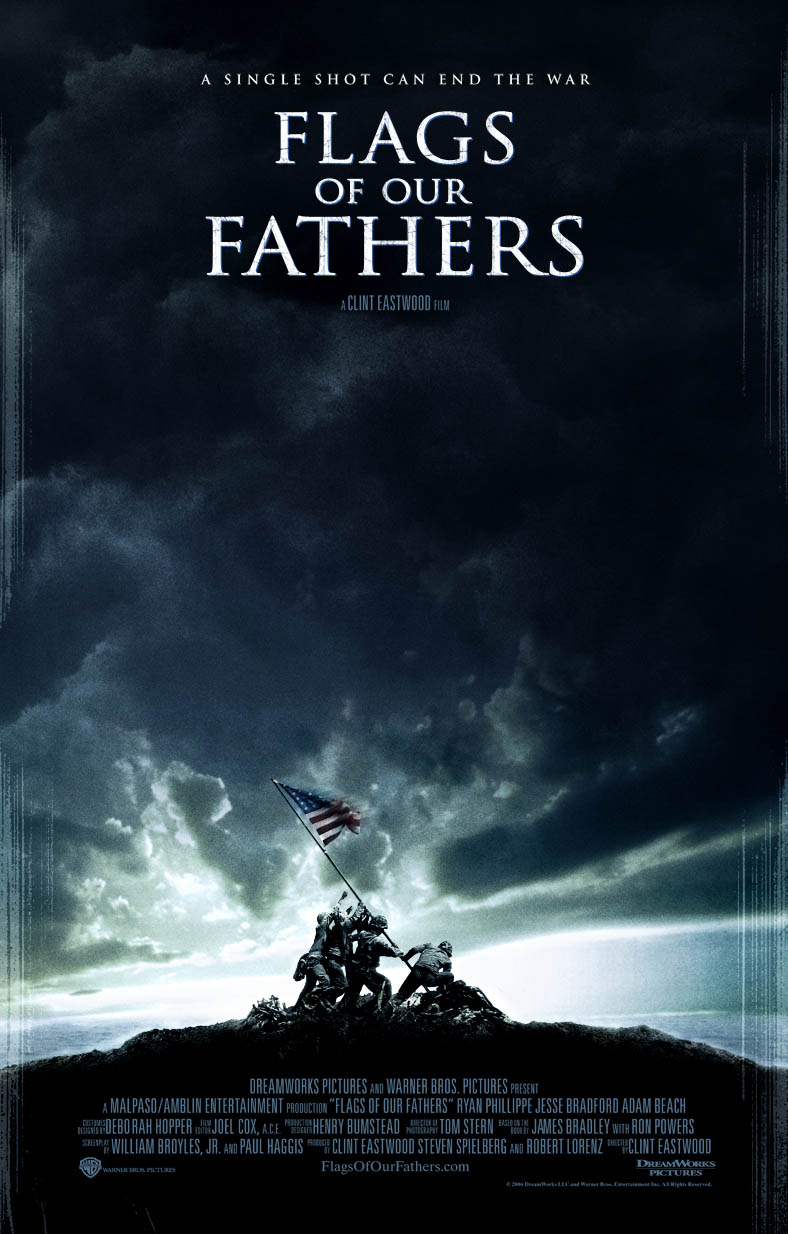 "poster for ""Flags of our Fathers"" by Clint Eastwood (2006)"