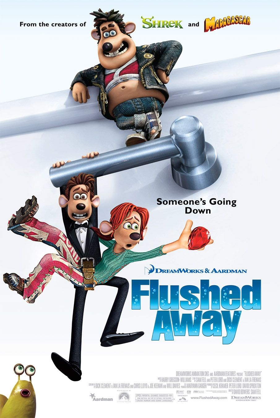 "poster for ""Flushed Away"" by David Bowers 