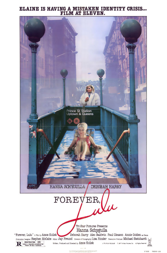 "poster for ""Forever, Lulu (aka Crazy Streets)"" by Amos Kollek(1987)"
