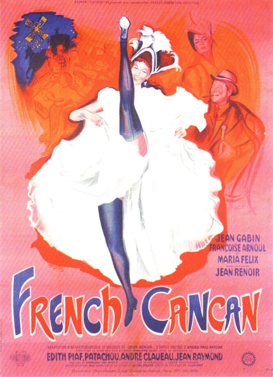 "poster for ""French Cancan"" by Jean Renoir(1955)"