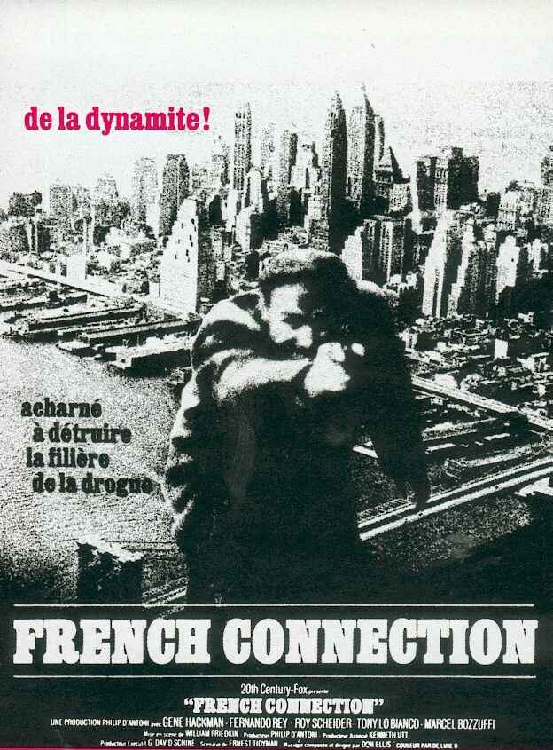 "poster for ""French Connection, The"" by William Friedkin(1971)"