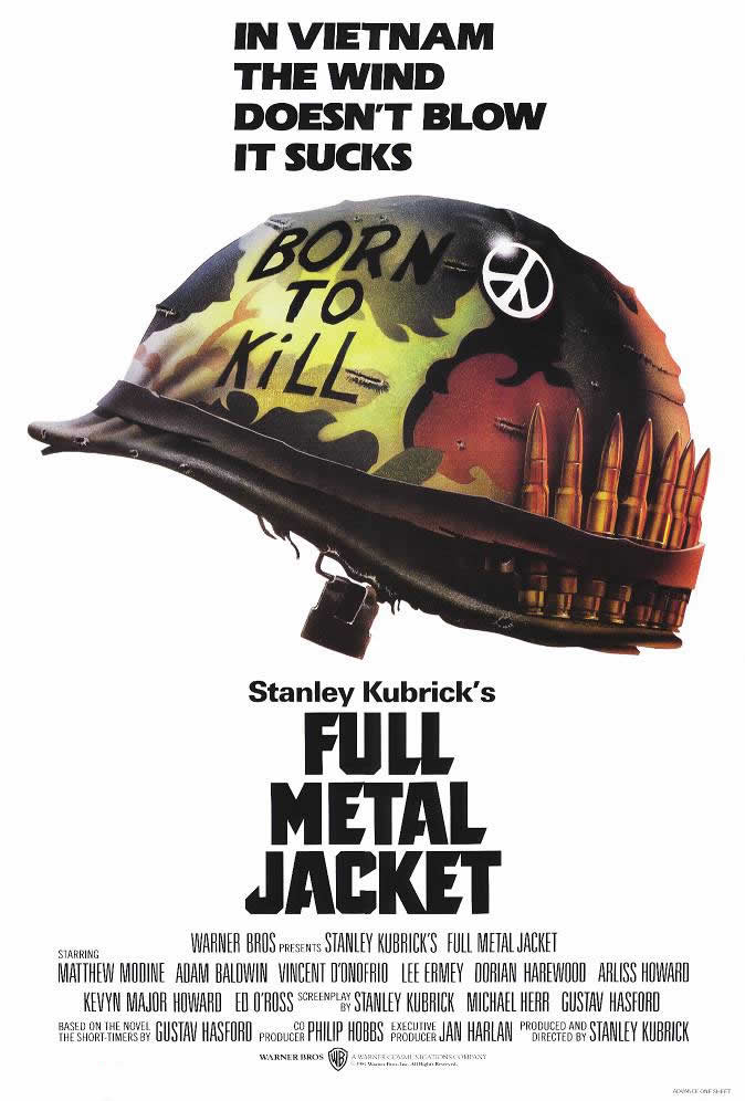 "poster for ""Full Metal Jacket"" by Stanley Kubrick(1987)"