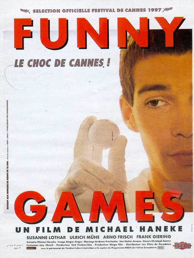 "poster for ""Funny Games"" by Michael Haneke (1998)"