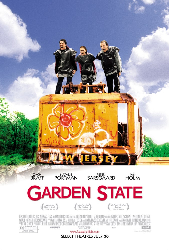 "poster for ""Garden State"" by Zach Braff (2004)"