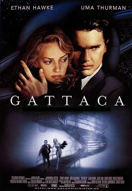 "poster for ""Gattaca"" by Andrew Niccol(1997)"