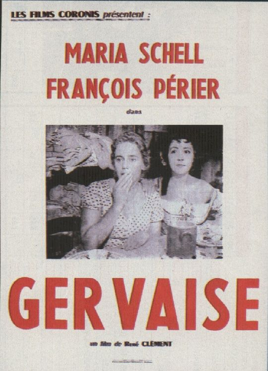 "poster for ""Gervaise"" by Ren� Cl�ment (1956)"