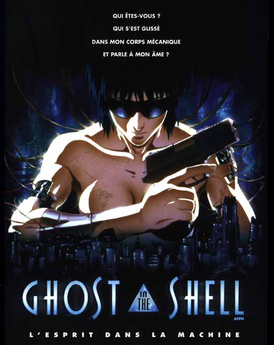 "poster for ""Kokaku kidotai (Ghost In The Shell)"" by Mamoru Oshii (1995)"