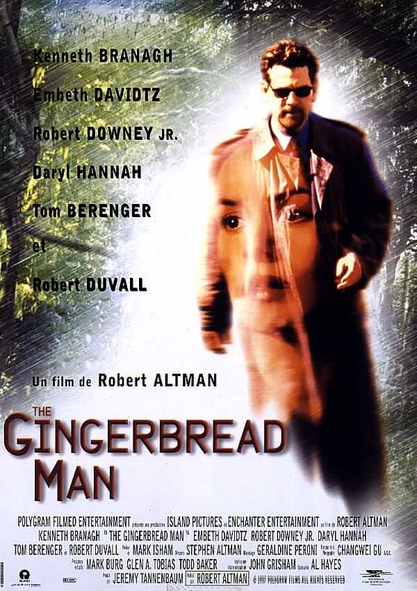"poster for ""Gingerbread Man, The"" by Robert Altman (1998)"