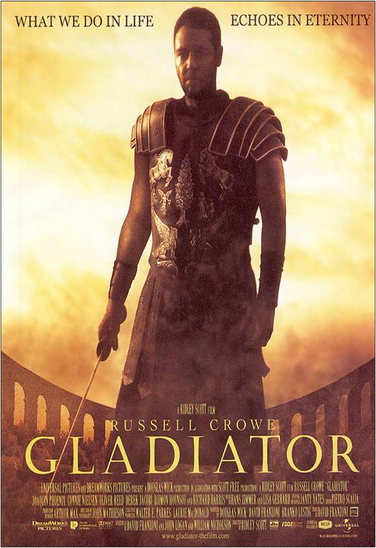 "poster for ""Gladiator&quot"