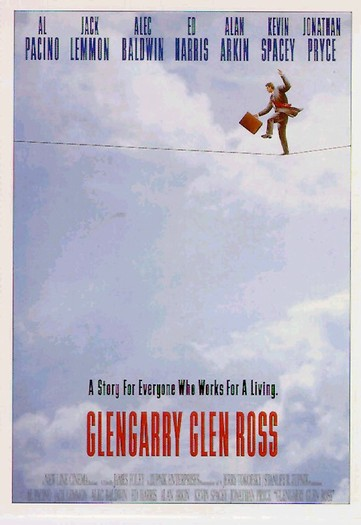 "poster for ""Glengarry Glen Ross"" by James Foley(1992)"