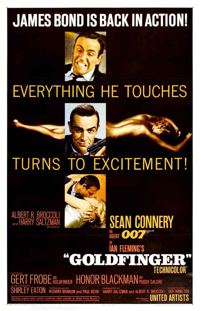 "poster for ""Goldfinger"" by Guy Hamilton(1964)"