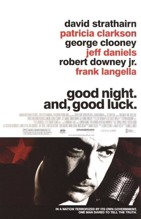 "poster for ""Good Night, and Good Luck"" by George Clooney (2005)"