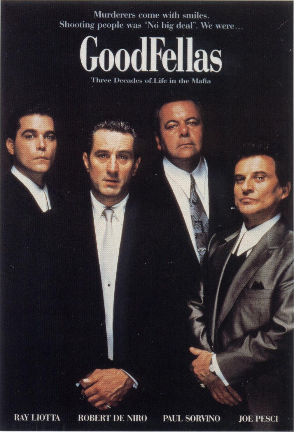 "poster for ""Goodfellas"" by Martin Scorsese (1990)"