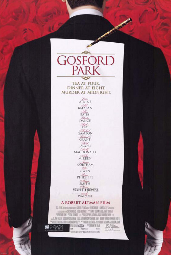 "poster for ""Gosford Park"" by Robert Altman(2001)"