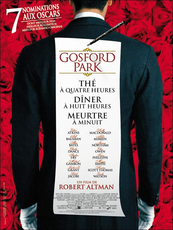 "poster for ""Gosford Park&quot"