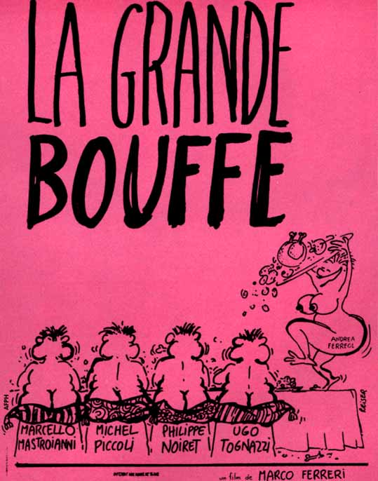 "poster for ""Grande Bouffe, La (The Grande Bouffe (US), Blow-Out  (UK))"" by Marco Ferreri (1973)"