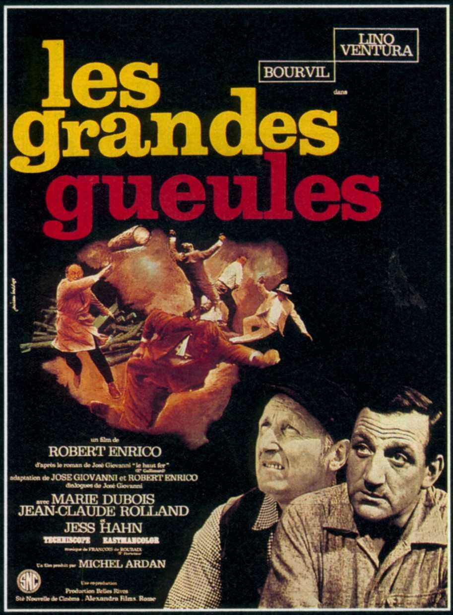 "poster for ""Grandes gueules, Les"" by Robert Enrico (1965)"