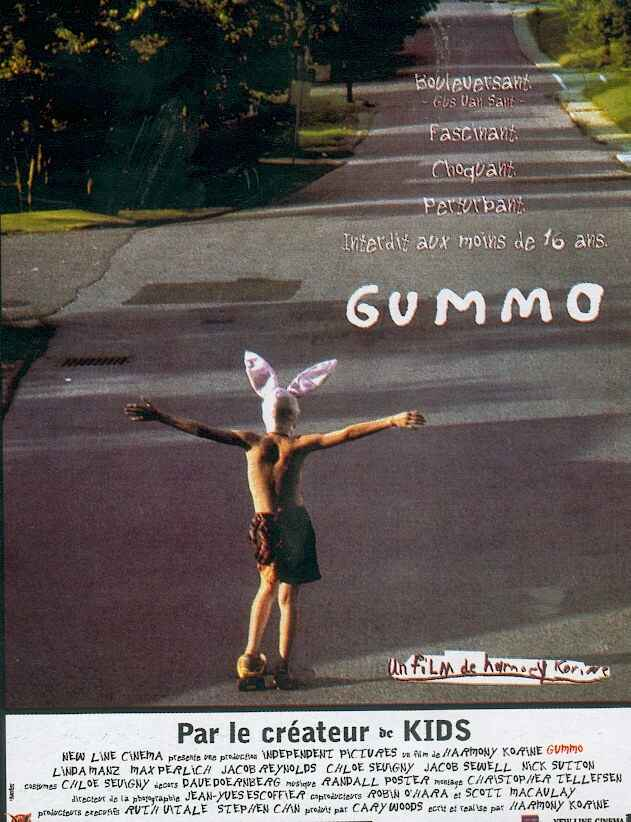 "poster for ""Gummo"" by Harmony Korine (1997)"