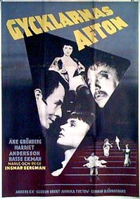 "poster for ""Gycklarnas Afton (The Naked Night)"" by Ingmar Bergman (1953)"