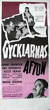 "poster for ""Gycklarnas Afton (The Naked Night)&quot"