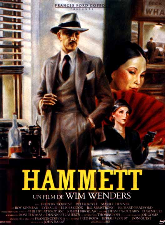 "poster for ""Hammett"" by Wim Wenders(1982)"