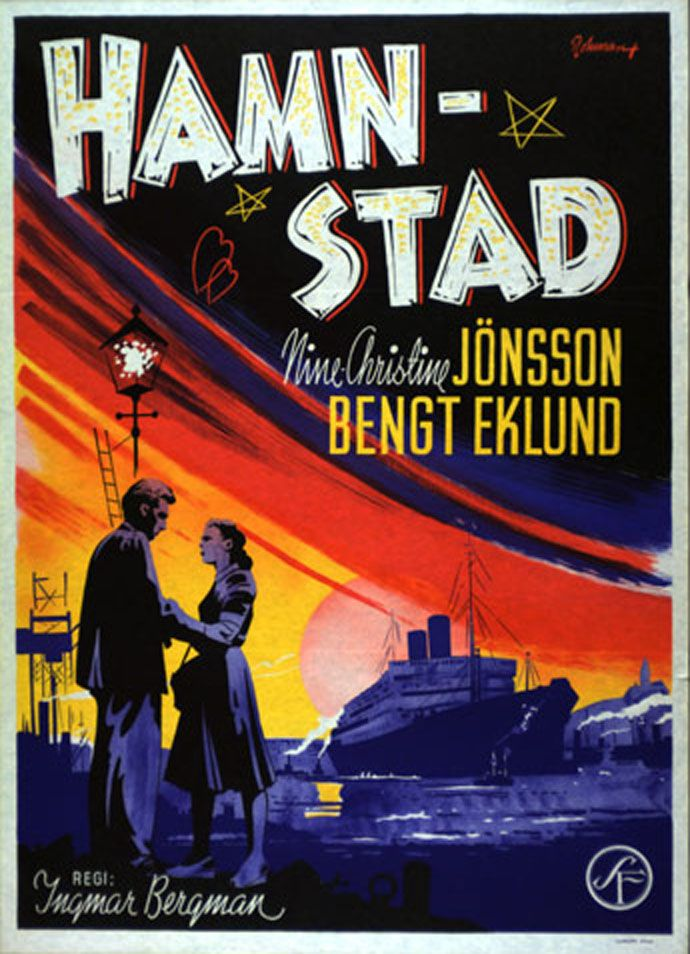 "poster for ""Hamnstad (Port of Call)"" by Ingmar Bergman(1948)"