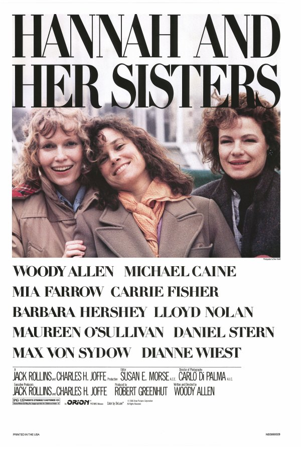 "poster for ""Hannah and Her Sisters"" by Woody Allen(1986)"