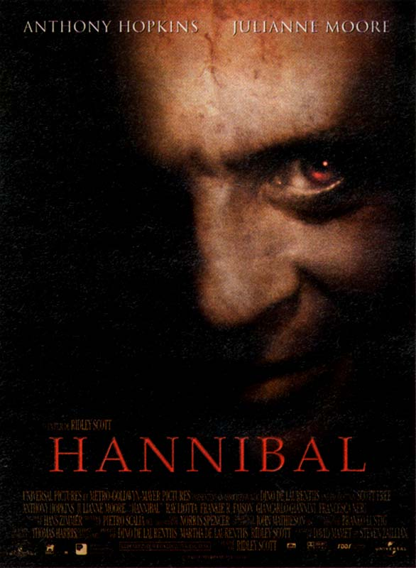 "poster for ""Hannibal"" by Ridley Scott(2001)"