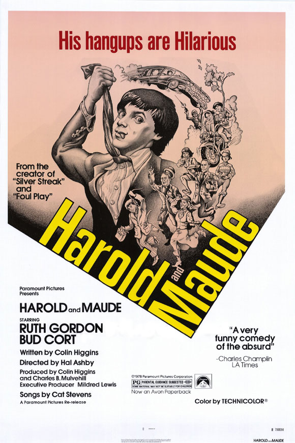 "poster for ""Harold and Maude"" by Hal Ashby(1971)"