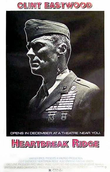 "poster for ""Heartbreak Ridge"" by Clint Eastwood (1986)"
