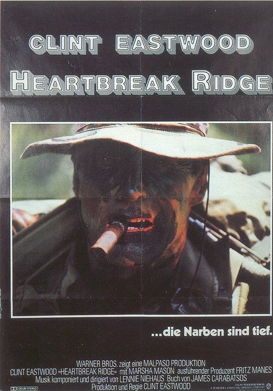 "poster for ""Heartbreak Ridge&quot"
