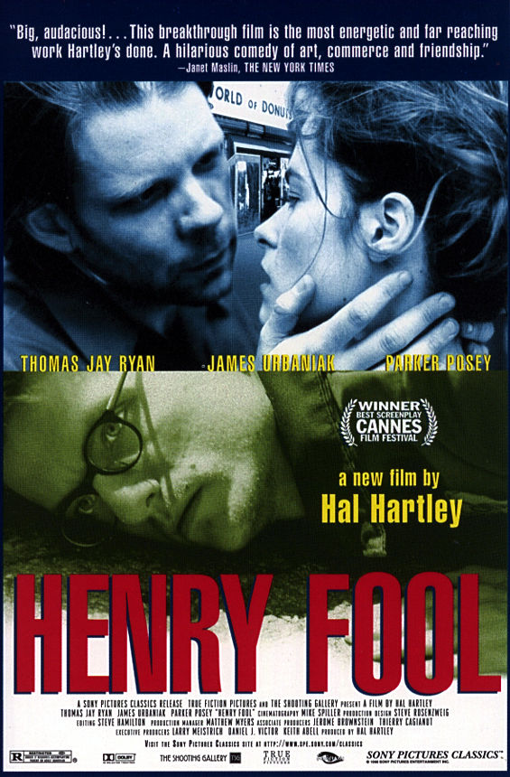 "poster for ""Henry Fool"" by Hal Hartley (1997)"