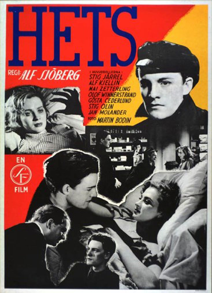 "poster for ""Hets (Torment)"" by Alf Sj�berg (1944)"