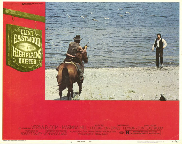 "poster for ""High plains drifter&quot"