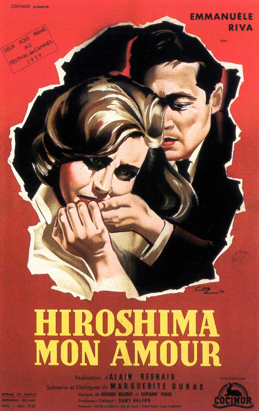 "poster for ""Hiroshima Mon Amour"" by Alain Resnais(1959)"