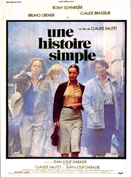 "poster for ""Histoire Simple, Une"" by Claude Sautet(1978)"