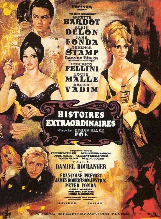 "poster for ""Histoires Extraordinaires"" by Federico Fellini