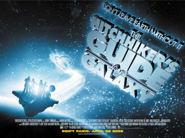 "poster for ""Hitchhikers Guide To The Galaxy, The"""