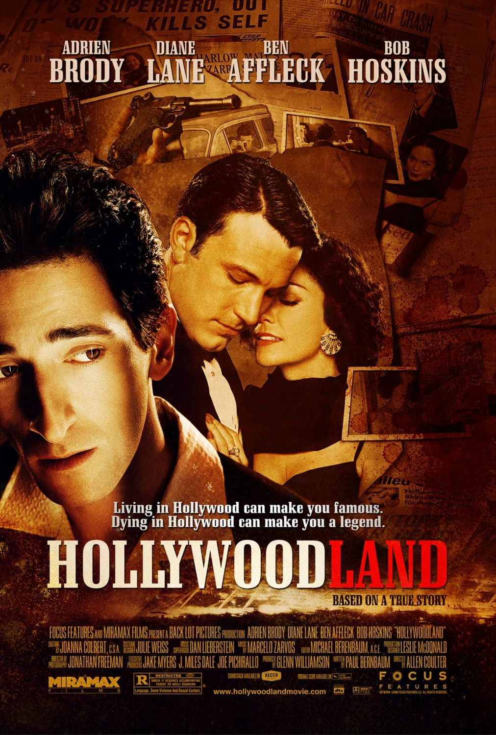 "poster for ""Hollywoodland"" by Allen Coulter(2006)"