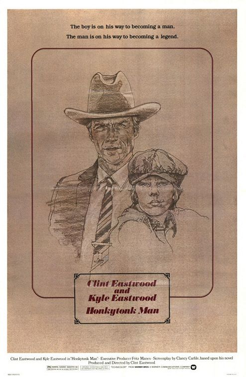 "poster for ""Honkytonk man"" by Clint Eastwood (1982)"