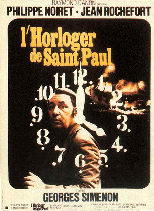 "poster for ""Horloger de Saint-Paul, L'"" by Bertrand Tavernier(1974)"